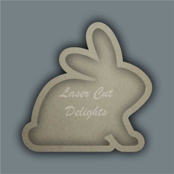 Open Fillable Rabbit (no acrylic) / Laser Cut Delights