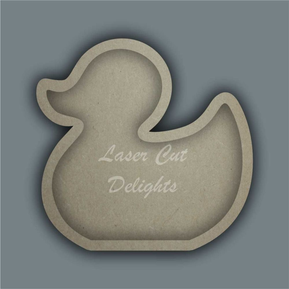 Open Fillable Shape Duck (no acrylic) / Laser Cut Delights