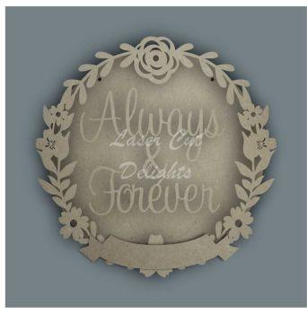 Wreath Banner ALWAYS & FOREVER / Laser Cut Delights