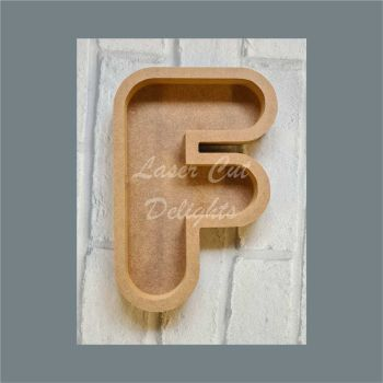 Open Fillable Letters ROUNDED (no acrylic) / Laser Cut Delights