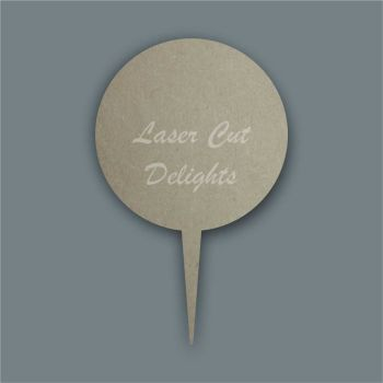 Cake Topper Circle Basic / Laser Cut Delights