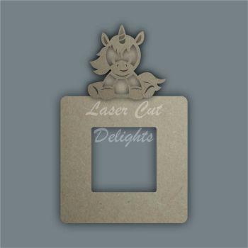 Stencil Layered Unicorn Sitting Light Surround / Laser Cut Delights