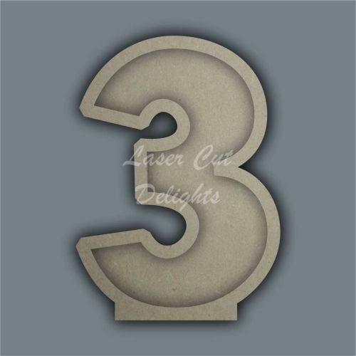Open Fillable Numbers ORIGINAL (no acrylic) / Laser Cut Delights