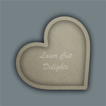 Open Fillable Heart (no acrylic) / Laser Cut Delights