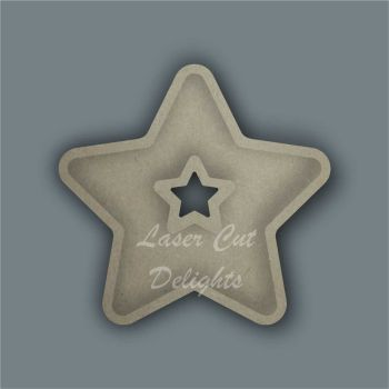Open Fillable Star With Hole (no acrylic) / Laser Cut Delights