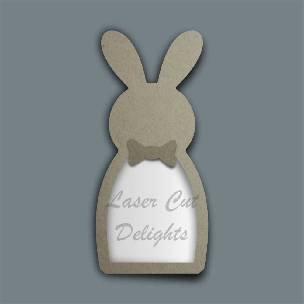 Fillable Shape Rabbit with Bow / Laser Cut Delights