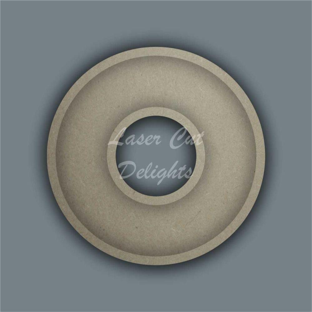 Open Fillable Circle Doughnut Donut (no acrylic) / Laser Cut Delights