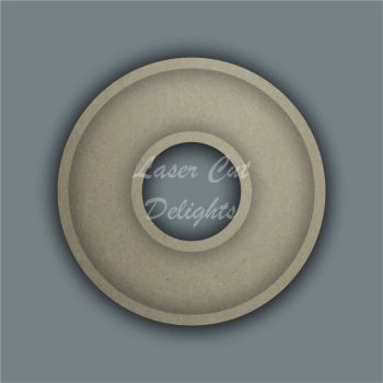 Open Fillable Circle Doughnut Donut (no acrylic) / Laser Cut Delights
