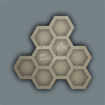 Open Fillable Honeycomb (no acrylic) / Laser Cut Delights