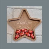 Open Fillable Star (no acrylic) / Laser Cut Delights