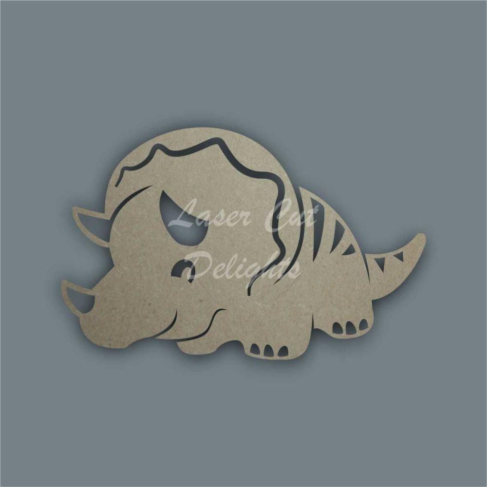 Dinosaur Three Horn Stencil / Laser Cut Delights