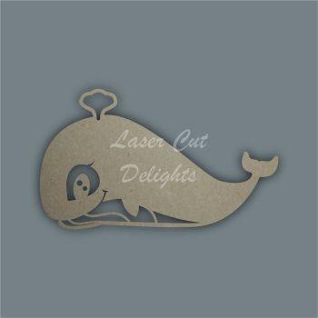 Blue Whale Stencil / Laser Cut Delights