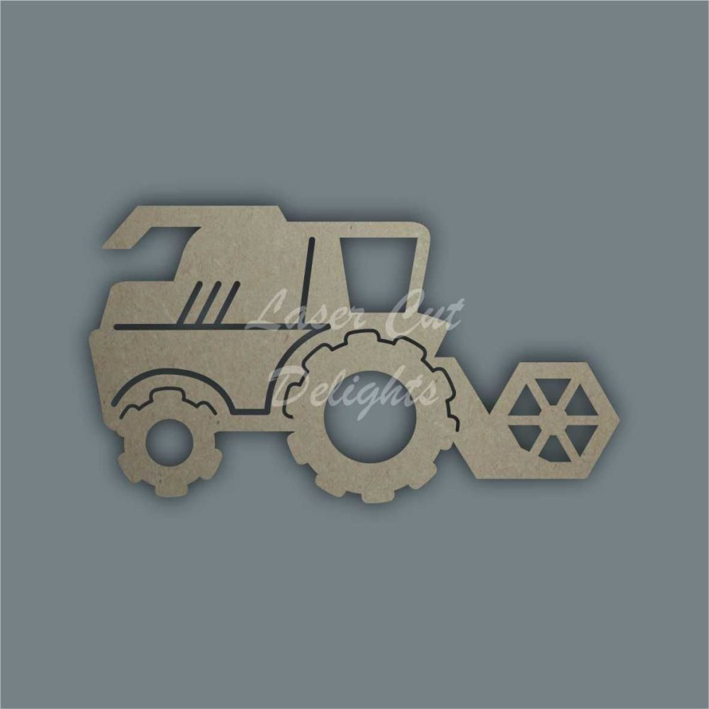Farm Combine Harvester Stencil / Laser Cut Delights