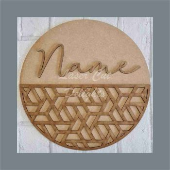 Layered Geometric Plaque / Laser Cut Delights