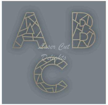 Geometric Letters / Laser Cut Delights