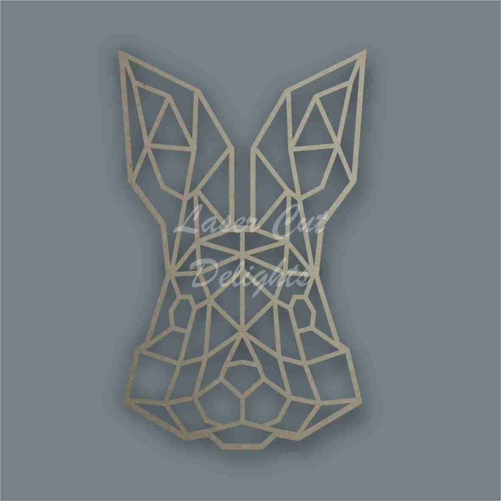 Geometric Bunny Rabbit FACE / Laser Cut Delights