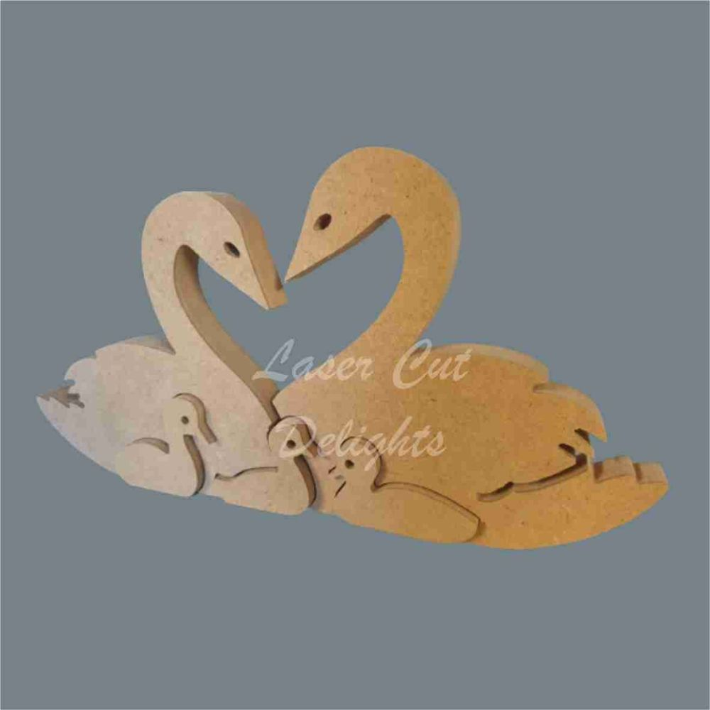 Puzzle Family Swan 18mm / Laser Cut Delights