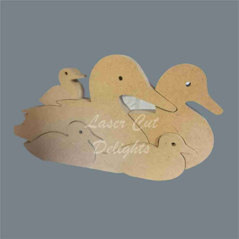 Puzzle Family Duck 18mm / Laser Cut Delights