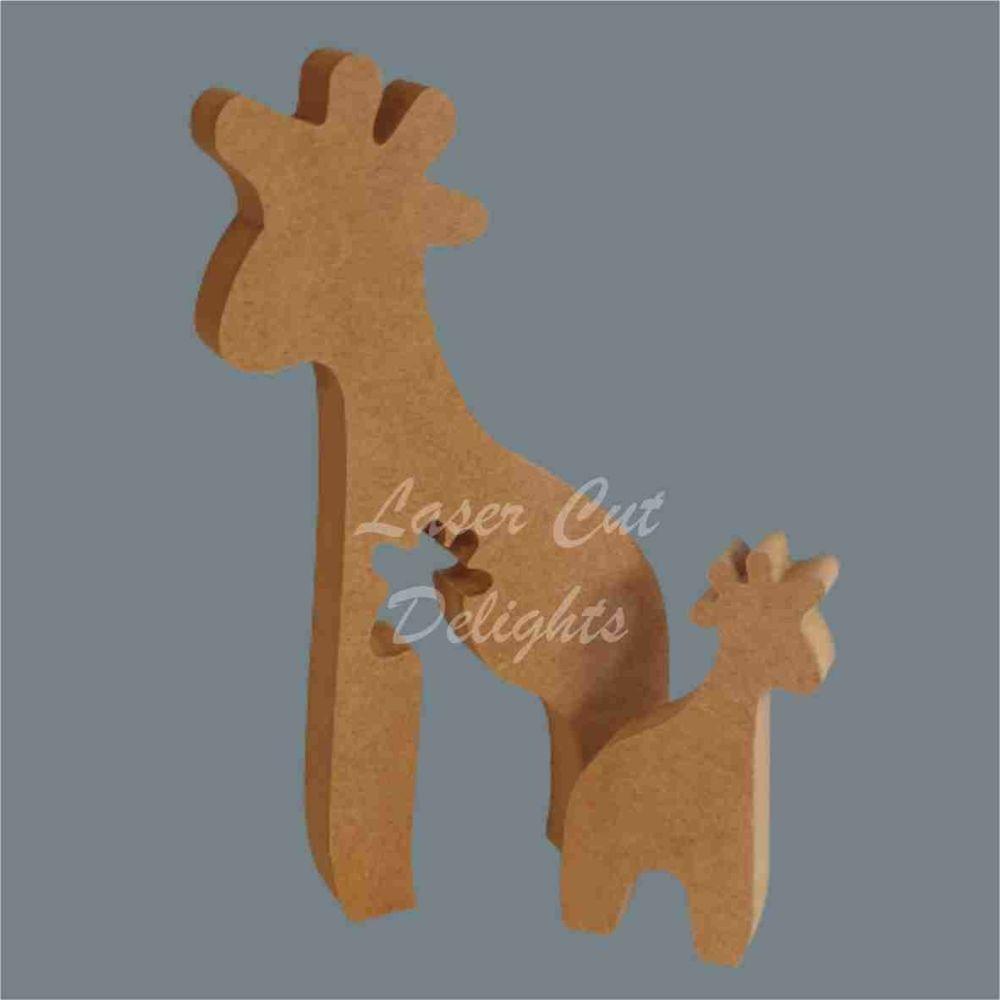 Puzzle Family Giraffe 18mm / Laser Cut Delights