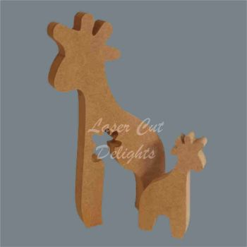 Puzzle Family Giraffe 18mm / Laser Cut Delights