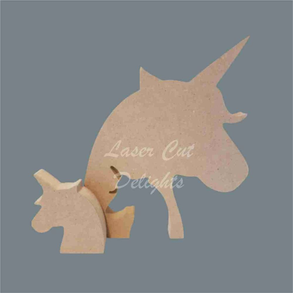 Unicorn FAMILY Puzzle / Laser Cut Delights
