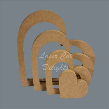 Nesting Stackable Heart Puzzle 18mm / Laser Cut Delights