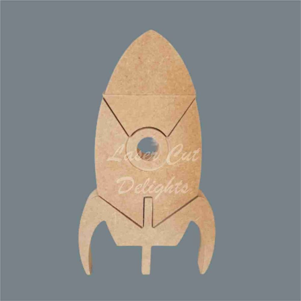 Puzzle Rocket 18mm / Laser Cut Delights