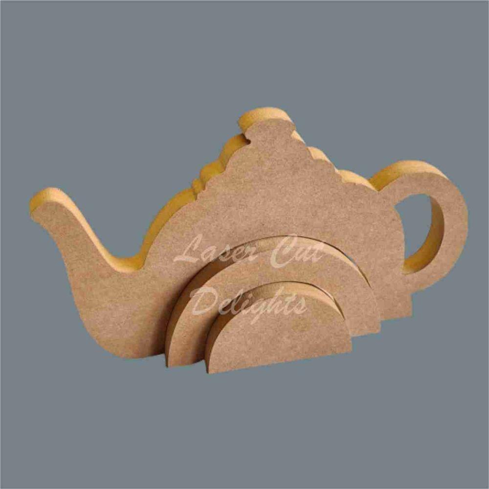 Stackable Rainbow Teapot / Laser Cut Delights