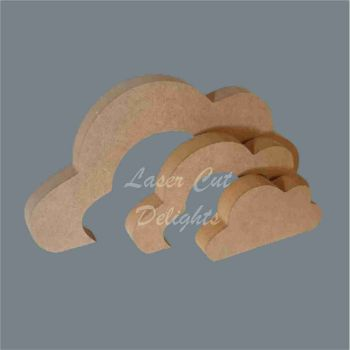Stackable Cloud Chunky Puzzle 18mm / Laser Cut Delights