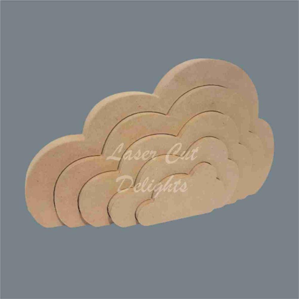 Stackable Cloud Puzzle 18mm / Laser Cut Delights