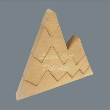 Stackable Mountain Slices / Laser Cut Delights