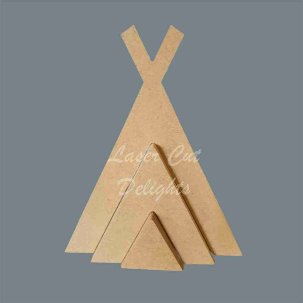 Stackable Teepee / Laser Cut Delights