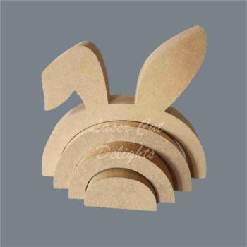 Stackable Rainbow Bunny Rabbit and Bent Ear / Laser Cut Delights