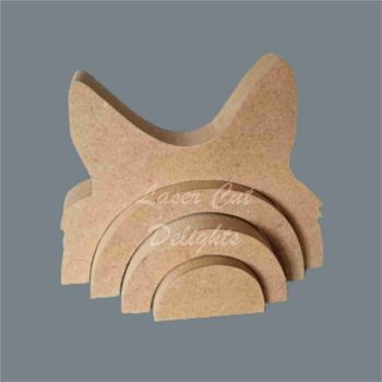 Stackable Rainbow with Dog Alsatian Ears / Laser Cut Delights