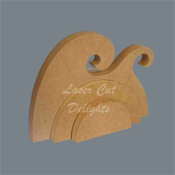 Stackable Rainbow Waves / Laser Cut Delights