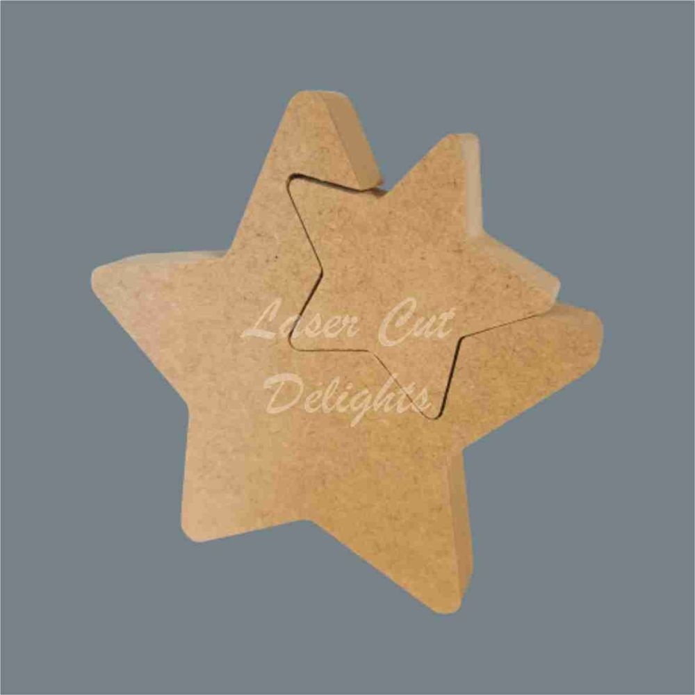 Shape in Star (large) / Laser Cut Delights