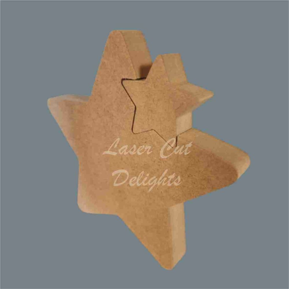 Shape in Star (small) / Laser Cut Delights