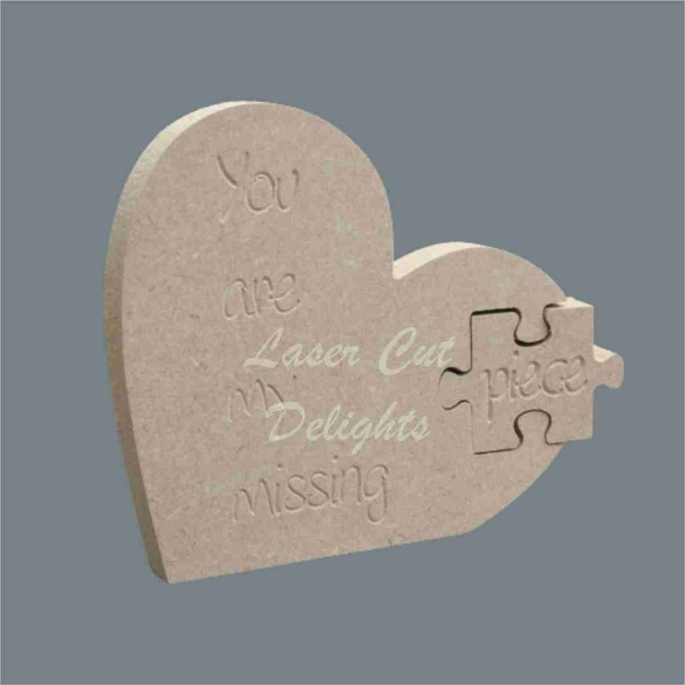 Shape in Heart (puzzle) 18mm / Laser Cut Delights