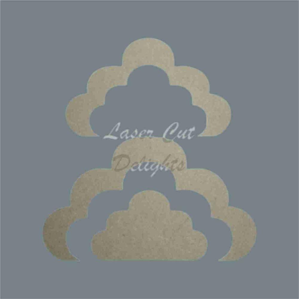 Stackable Cloud Symmetrical Puzzle 18mm / Laser Cut Delights