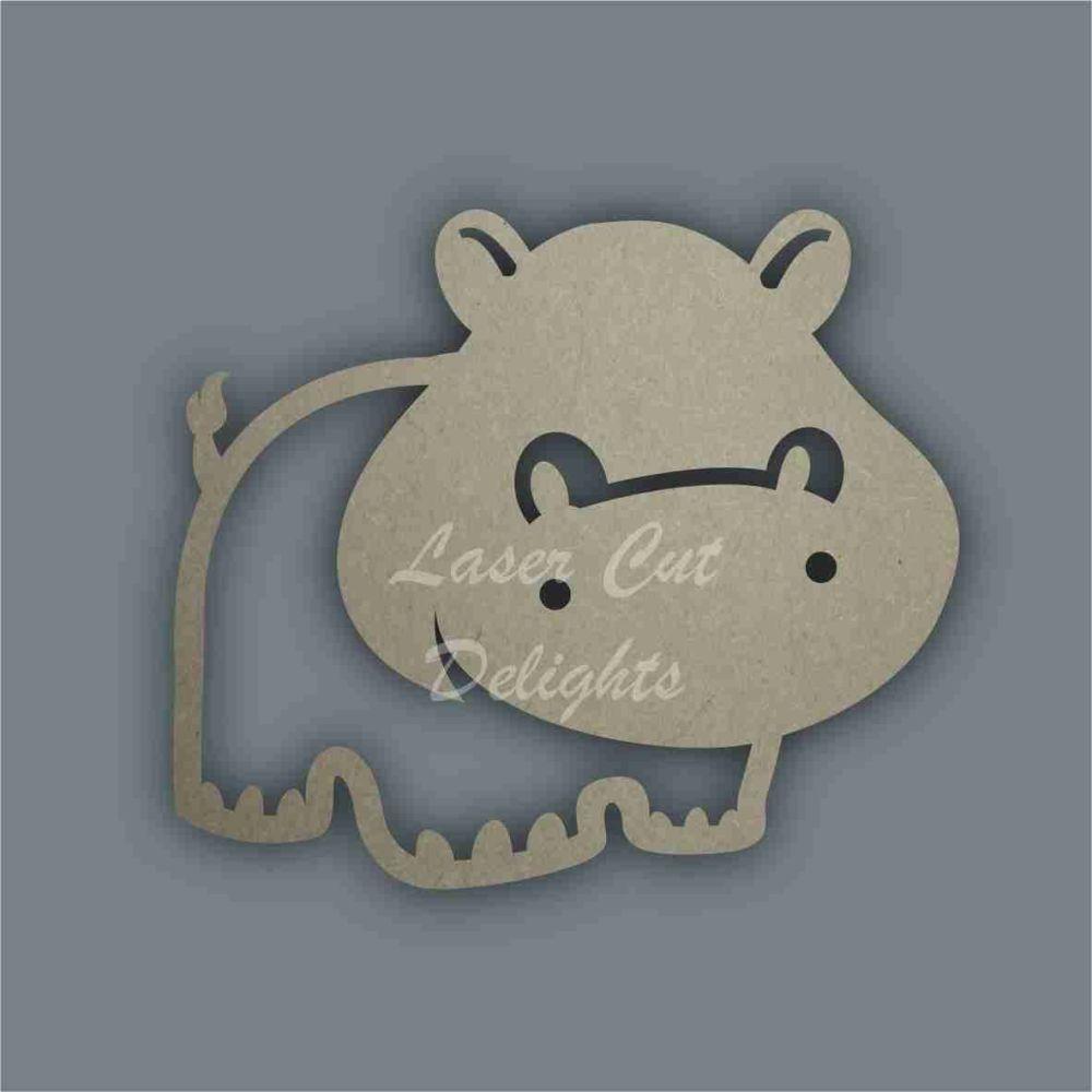 Hippo Stencil / Laser Cut Delights