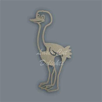 Ostrich Stencil / Laser Cut Delights