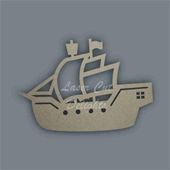 Pirate Ship Stencil / Laser Cut Delights