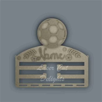 Combination Clip Bow Medal Hanger STENCIL FOOTBALL / Laser Cut Delights