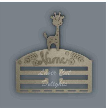 Combination Clip Bow Medal Hanger STENCIL GIRAFFE / Laser Cut Delights
