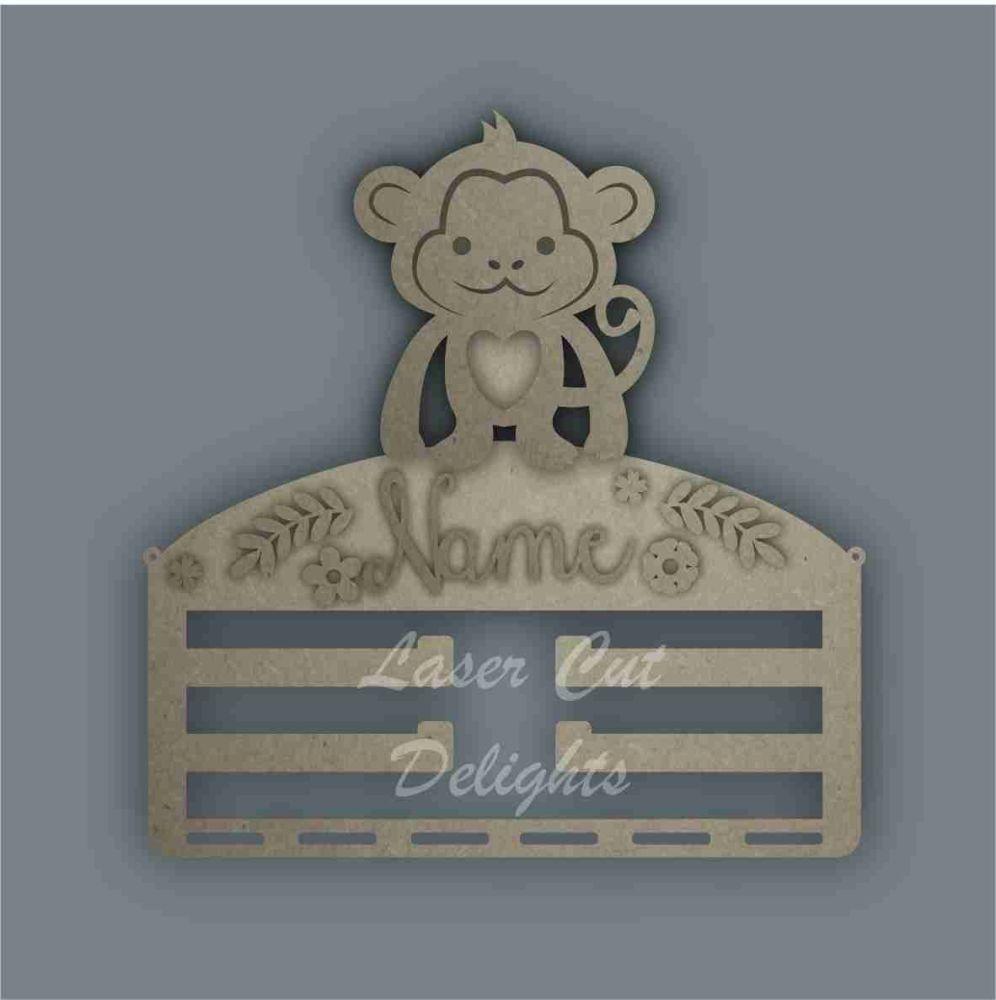 Combination Clip Bow Medal Hanger STENCIL MONKEY / Laser Cut Delights