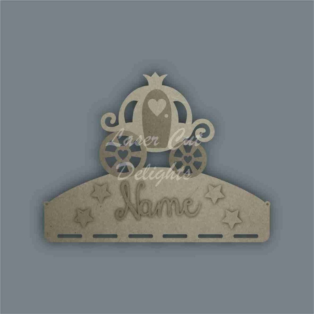 Name Plaque STENCIL CARRIAGE Bow Medal Hanger / Laser Cut Delights