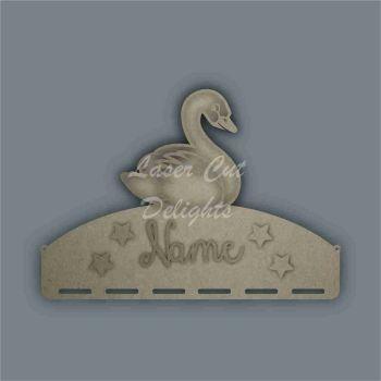 Name Plaque STENCIL SWAN Bow Medal Hanger / Laser Cut Delights