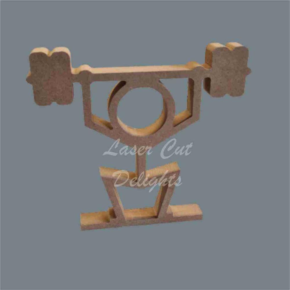Stick Figure - Weight Lifter / Laser Cut Delights