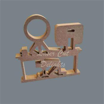 Stick Figure - Desk Worker / Laser Cut Delights