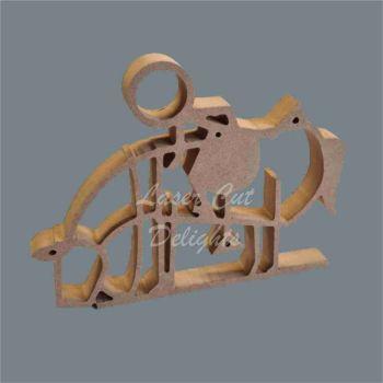 Stick Figure - Horse Rider / Laser Cut Delights